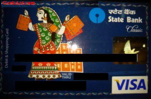 SBI Classic VISA Debit Card Geekact