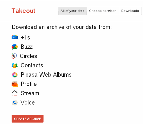 google takeout backup geekact