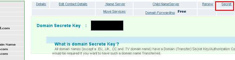 netspaceindia epp secret code namecheap