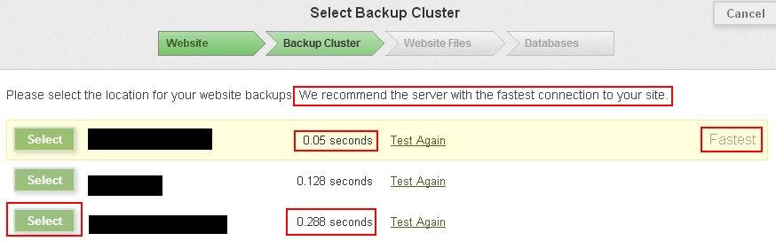 Comcure Backup Cluster
