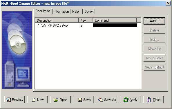Bootable Disk Image List