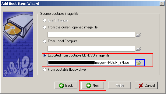 XP SP2 Image added to disk