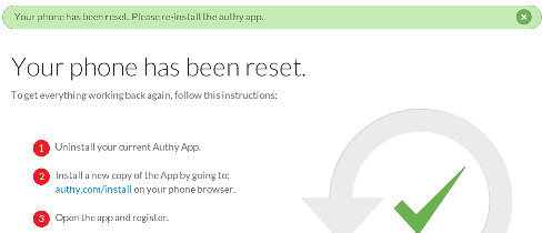 Authy Device Unlinked