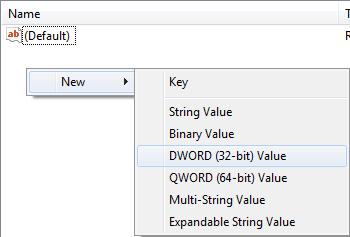 Add DWORD Key