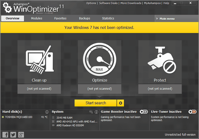 WinOptimizer 11 Full Version Free Geekact
