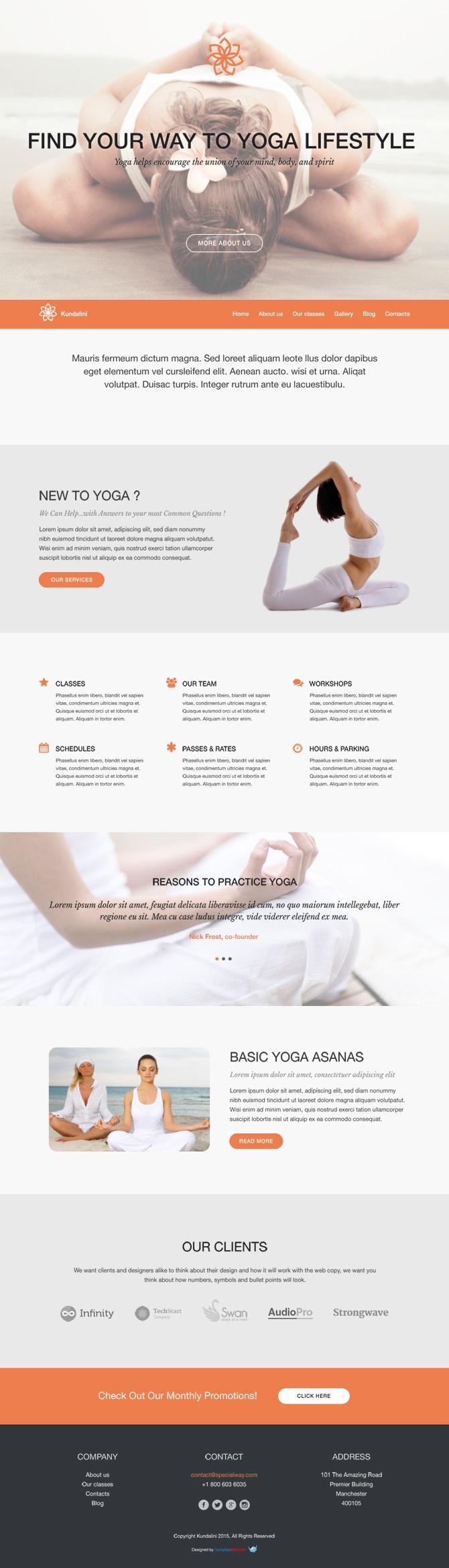 kundalini templatemonster wordpress theme