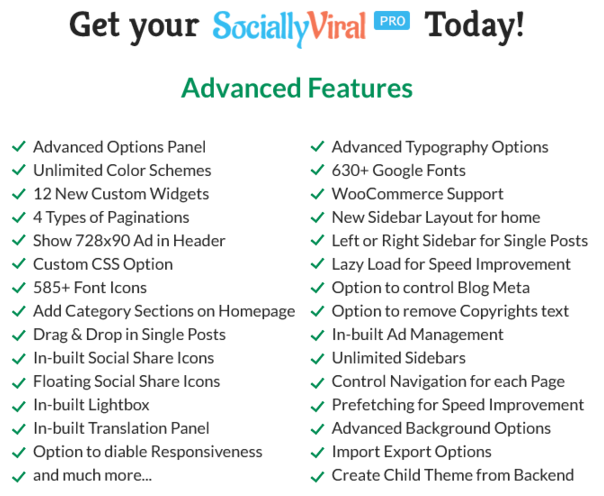 Socially Viral Pro Features