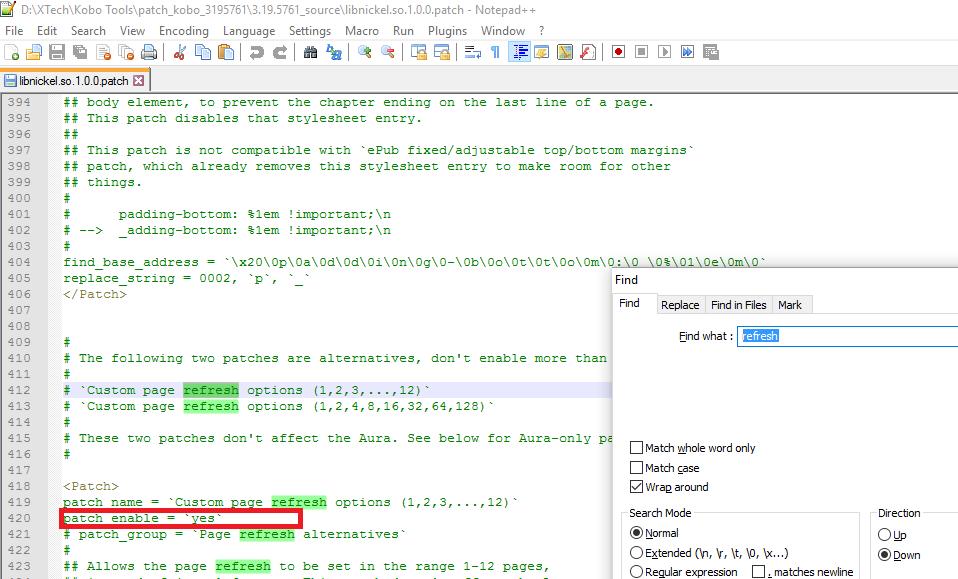 custom page refresh on Kobo Glo