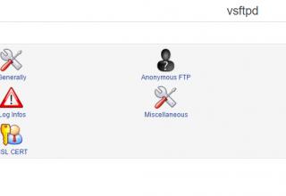 VSFTPD Module webmin