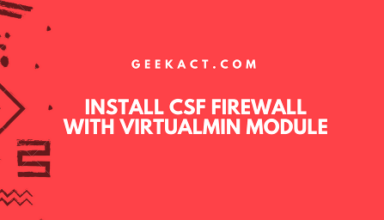 install CSF by shell and VirtualMin module