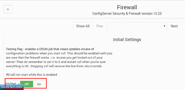 install csf lfd
