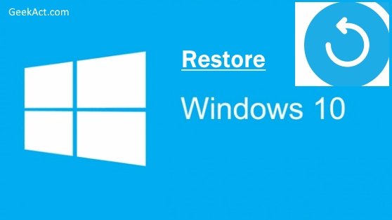 wipe Windows 10 and restore