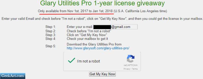glarysoft 1 year giveaway