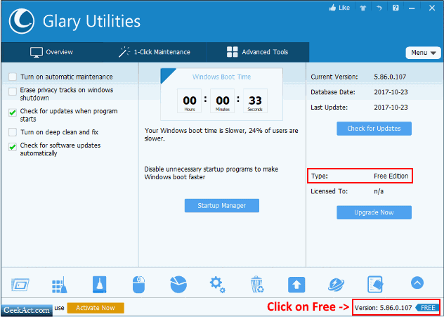 glarysoft utilities free geekact