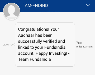 confirmation fundsindia