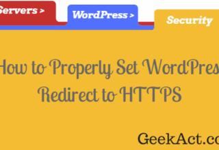 correct wordpress redirect