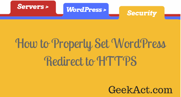 correct wordpress redirect